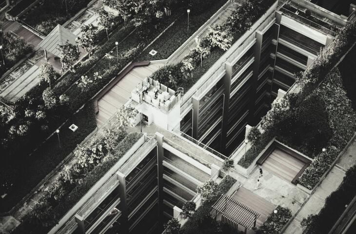 construção sustentável de um prédio