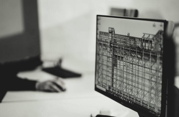 orçamento em bim visto do monitor de um computador